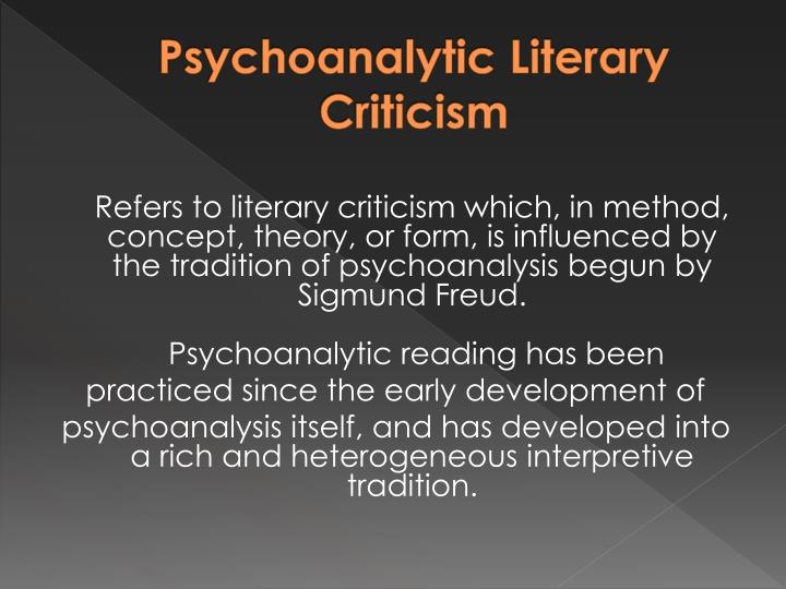 Psychoanalytic literary criticism1