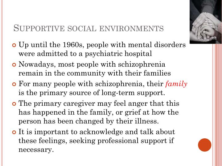 Supportive social environments