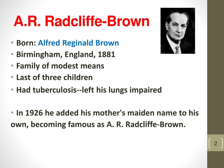 A r radcliffe brown
