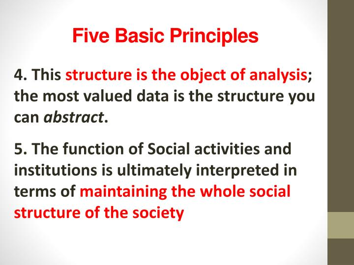 Five Basic Principles