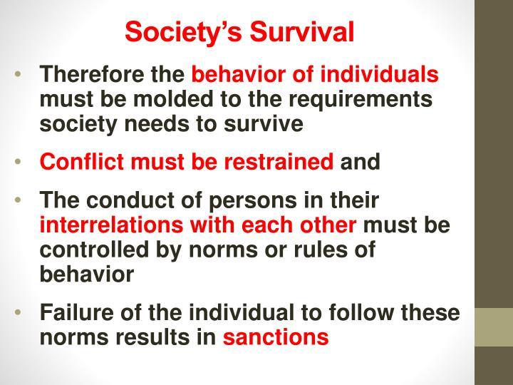 Society's Survival