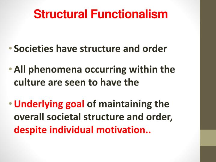 'structure functionalism' described by radcliffe brown Eggan, fred and w llyod warren (1956 ) alfred reginald radcliffe-brown ( 1963) social structure which was his ideas of functionalism radcliffe-brown.