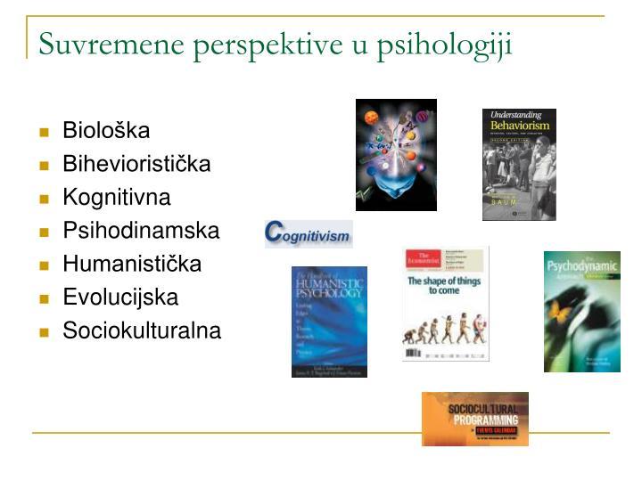 Suvremene perspektive u psihologiji