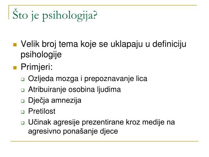 Što je psihologija?