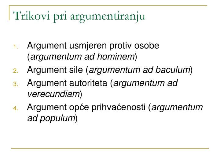 Trikovi pri argumentiranju