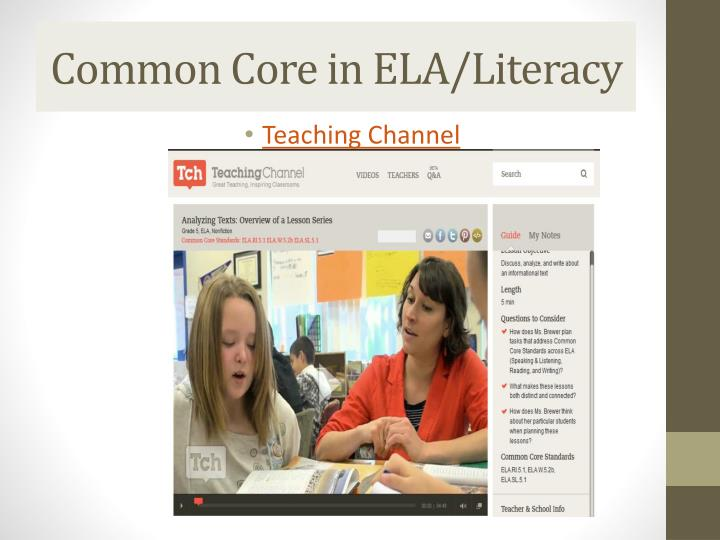 Common Core in ELA/Literacy