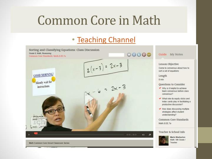 Common Core in Math