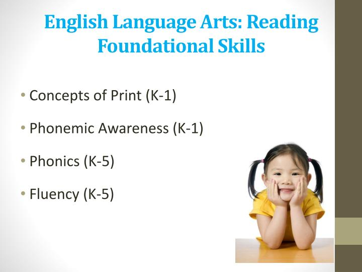 English Language Arts: Reading Foundational Skills