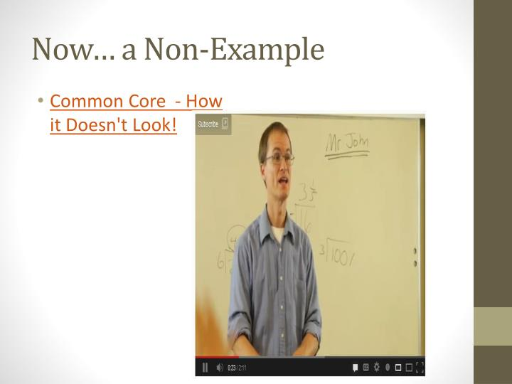 Now… a Non-Example