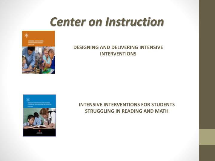 Center on Instruction