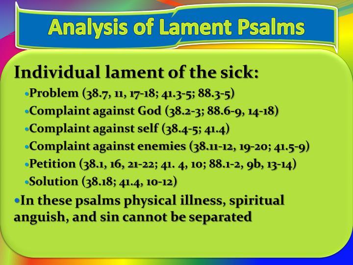 Analysis of Lament Psalms