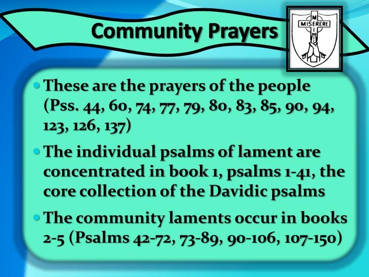 Community Prayers
