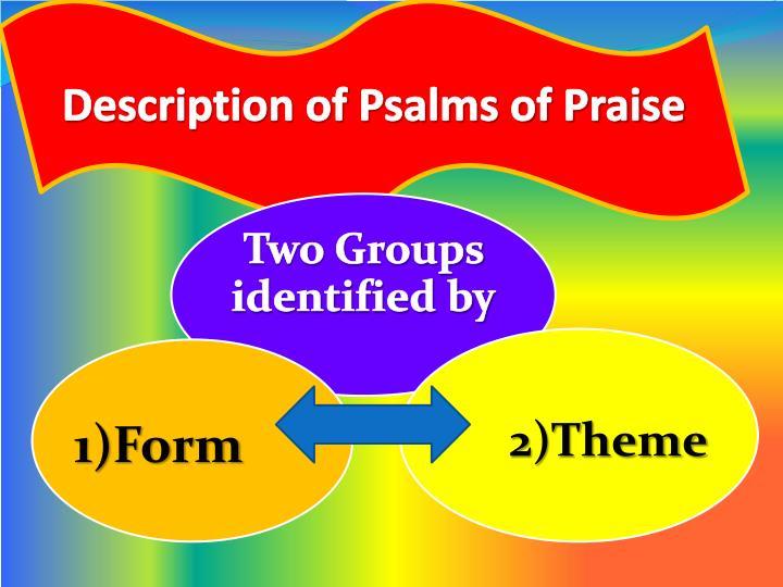 Description of Psalms of Praise