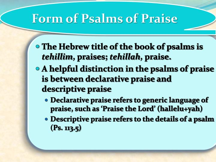 Form of Psalms of Praise