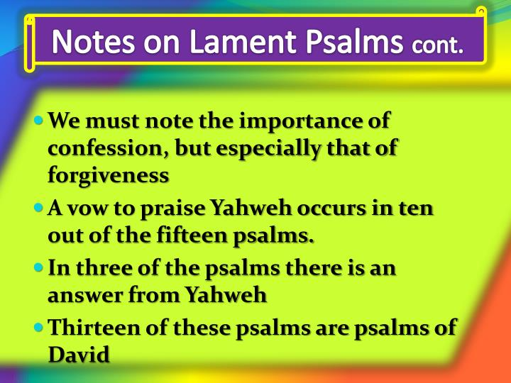 Notes on Lament Psalms