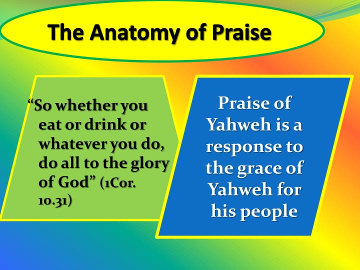 The Anatomy of Praise
