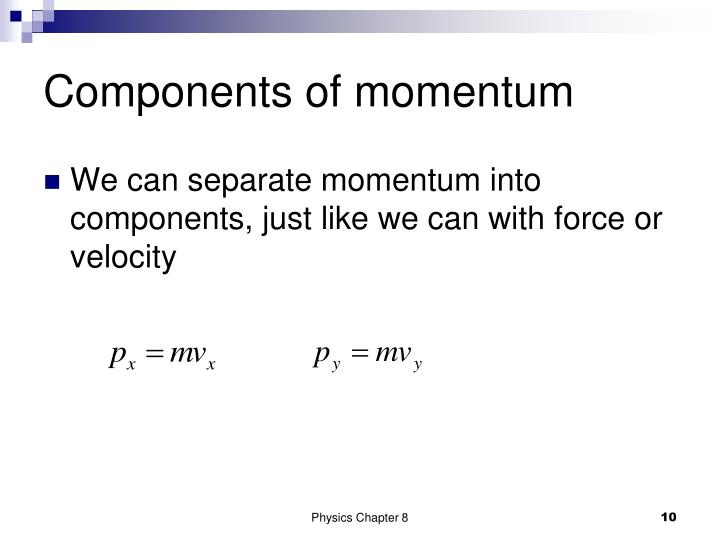 Components of momentum