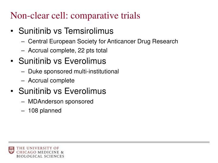 Non-clear cell: comparative trials