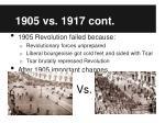 1905 vs 1917 cont