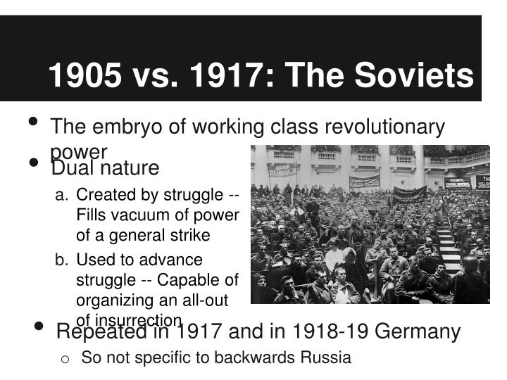 1905 vs 1917 the soviets