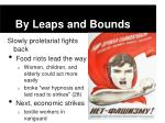 by leaps and bounds