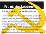 proletarian leadership