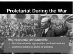 proletariat during the war1