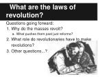 what are the laws of revolution1