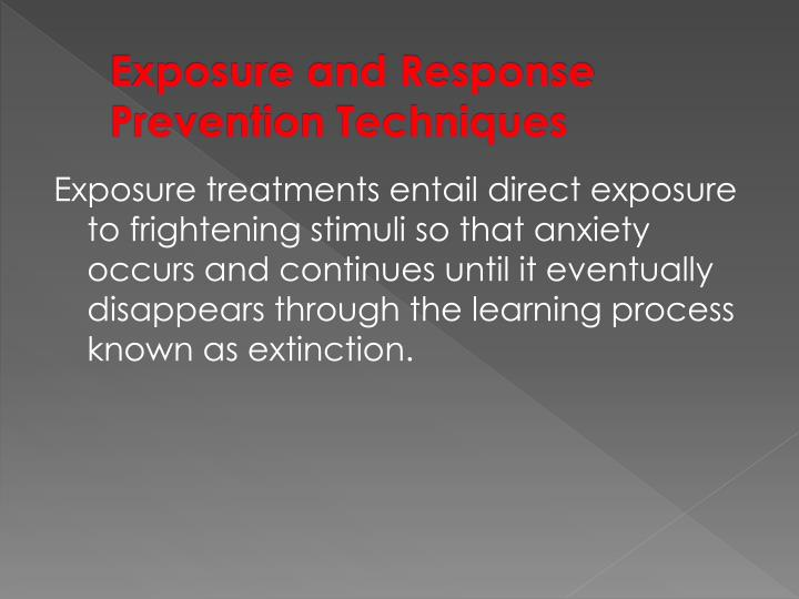 Exposure and Response Prevention Techniques