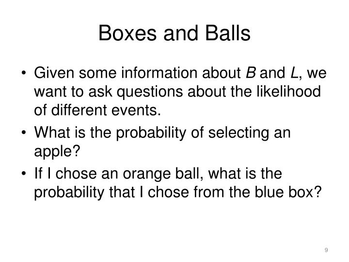 Boxes and Balls