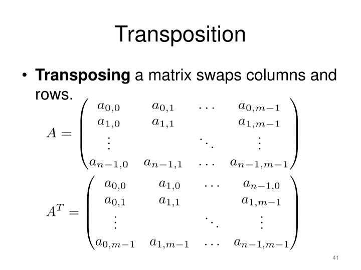Transposition