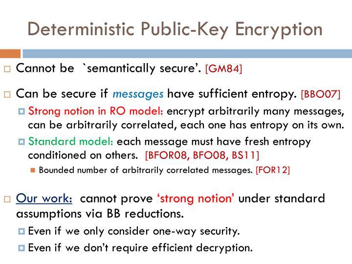 Deterministic Public-Key Encryption