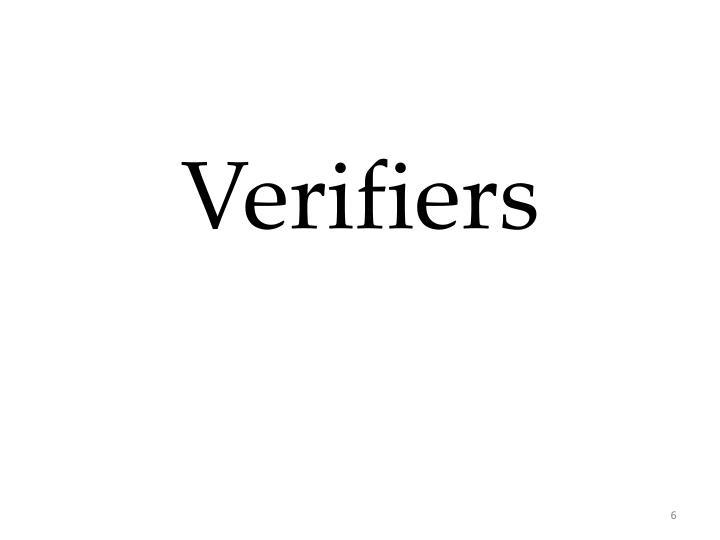 Verifiers