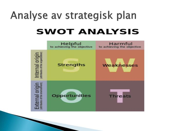 Analyse av strategisk plan