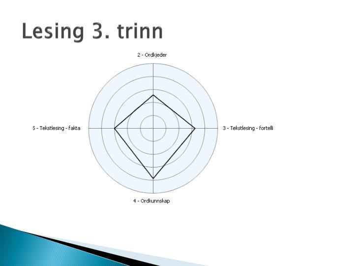 Lesing 3. trinn