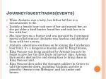 journey quest tasks events