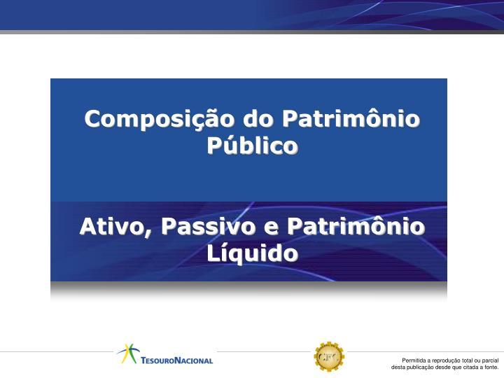 Composição do Patrimônio Público