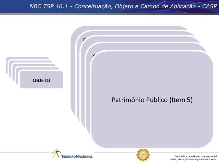 NBC TSP 16.1 - Conceituação, Objeto e Campo de Aplicação - CASP