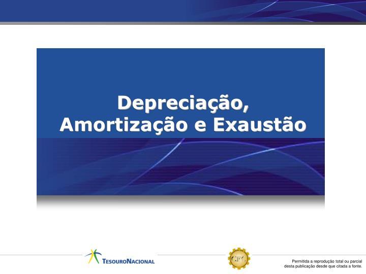 Depreciação, Amortização e Exaustão
