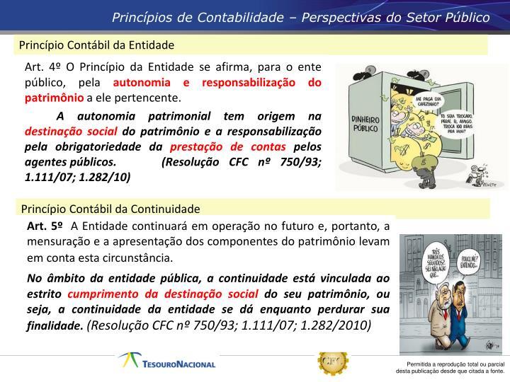 Princípios de Contabilidade – Perspectivas do Setor Público