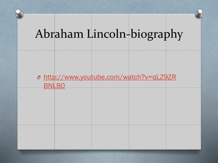 Abraham Lincoln-biography