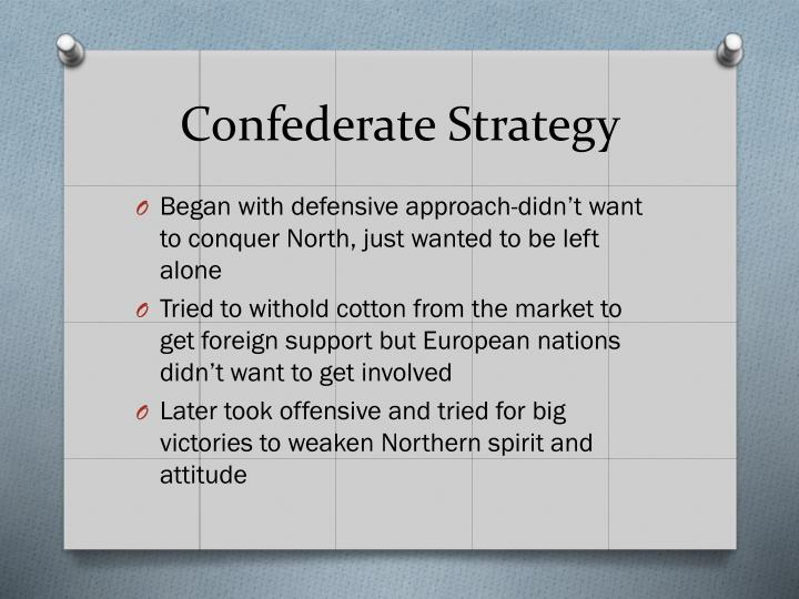 Confederate Strategy