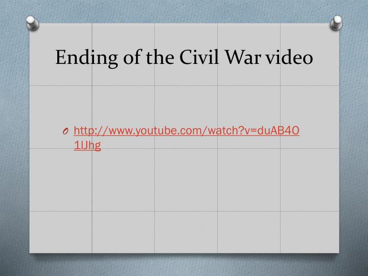 Ending of the Civil War video