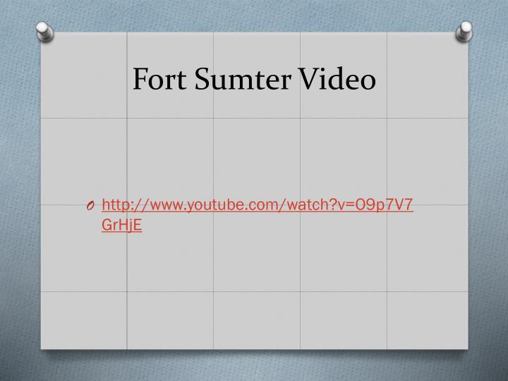 Fort Sumter Video