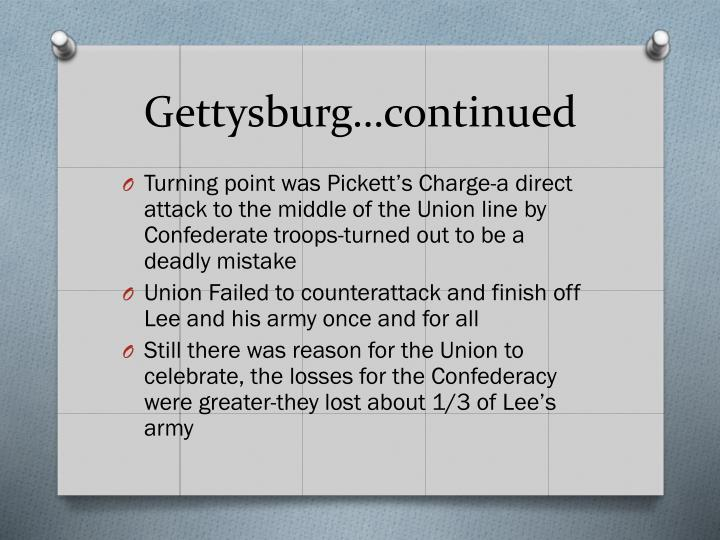 Gettysburg…continued