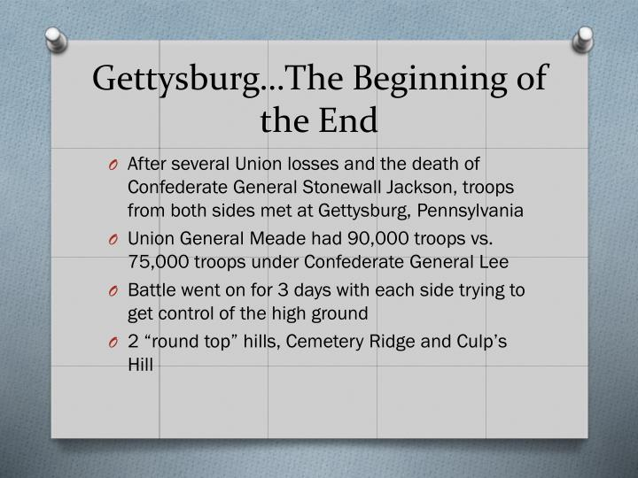 Gettysburg…The Beginning of the End