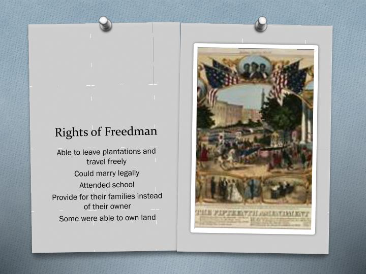 Rights of Freedman