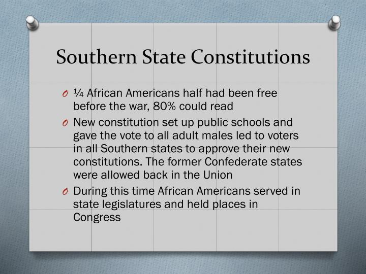 Southern State Constitutions
