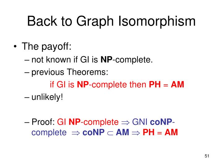 Back to Graph Isomorphism
