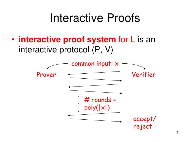 Interactive Proofs
